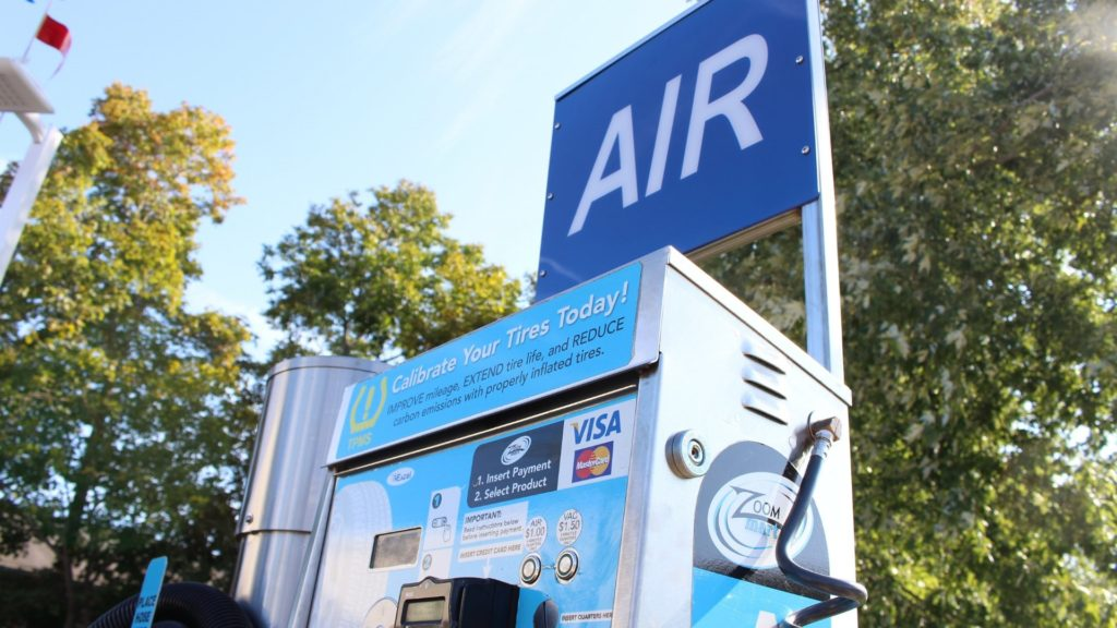 Gas Stations Sales with an Air Machine